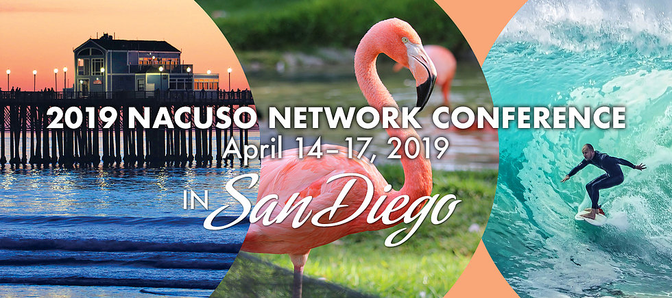 2019 NACUSO NETWORK CONFERENCE April 14-17-2019 in San Diego